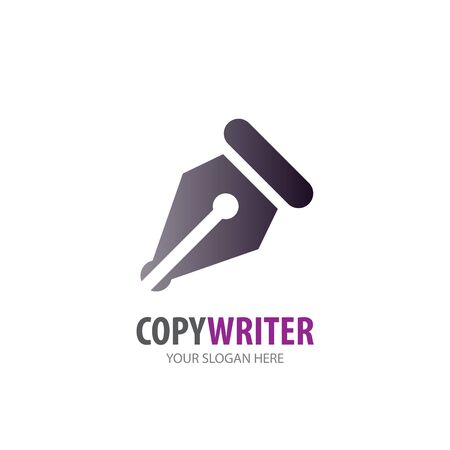 Copywriter logo for business company. Simple Copywriter logotype idea design