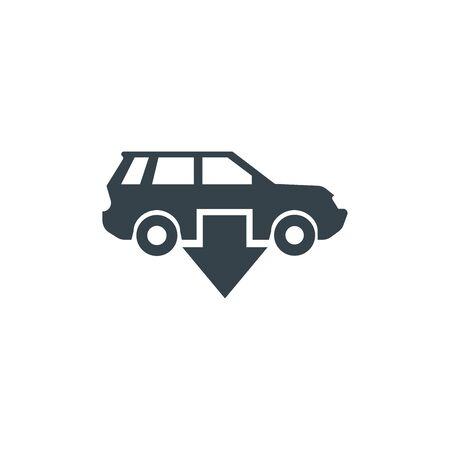 car arrow concept logotype template design. Business logo icon shape. car arrow simple illustration