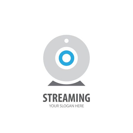 Streaming logo for business company. Simple Streaming logotype idea design