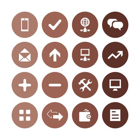 app icons universal set for web and UI Illustration