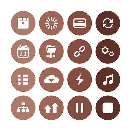 app icons universal set for web and UI 向量圖像