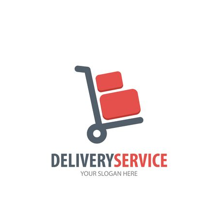 Delivery service logo for business company. Simple Delivery service logotype idea design
