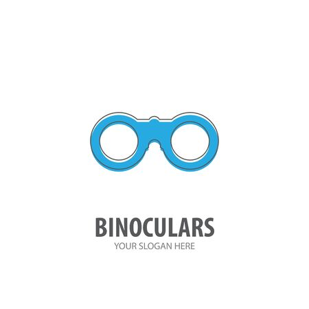 Binoculars logo for business company. Simple Binoculars logotype idea design.