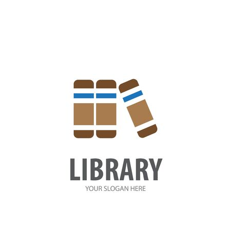 Library logo for business company. Simple Library logotype idea design Illustration