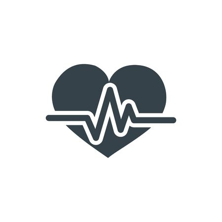heart pulse concept logotype template design. Business logo icon shape. heart pulse simple illustration Illustration