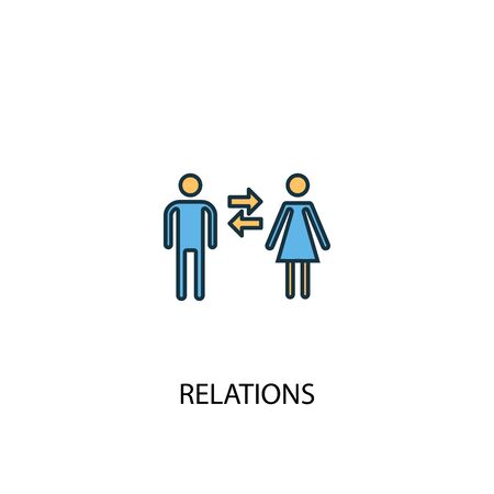relations concept 2 colored icon. Simple blue element illustration. relations concept symbol design. Can be used for web and mobile