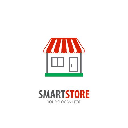 Store logo for business company. Simple Store logotype idea design