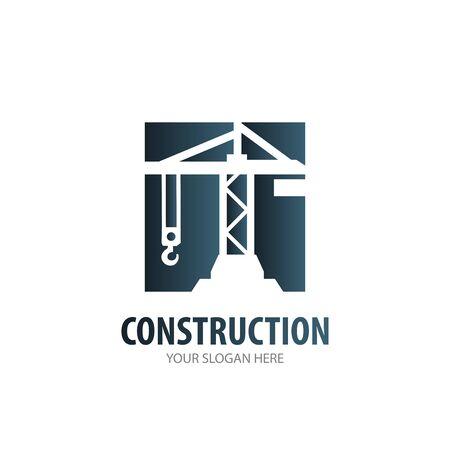 Construction logo for business company. Simple Construction logotype idea design