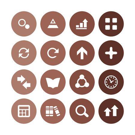 analytics, research icons universal set for web and UI Illusztráció