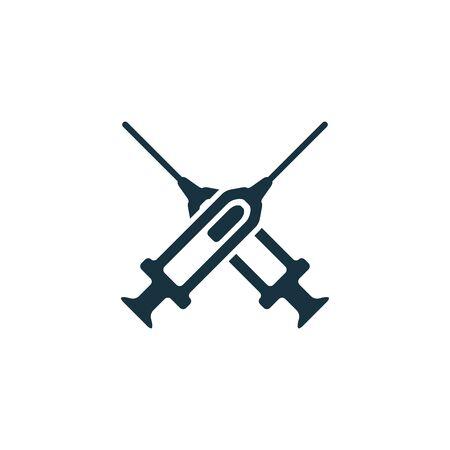 syringe concept logotype template design. Business logo icon shape. syringe simple illustration