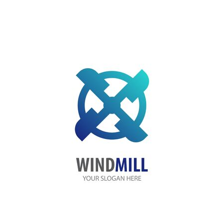 Wind mill logo for business company. Simple Wind mill logotype idea design
