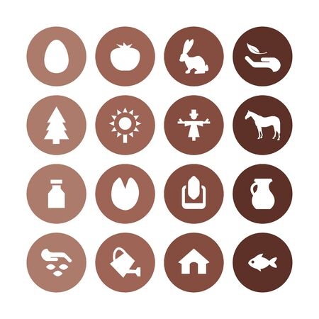 agriculture, farm icons universal set for web and UI Stockfoto - 130457533