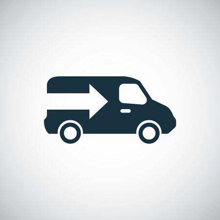 truck arrow icon trendy simple symbol concept template Foto de archivo - 130457534