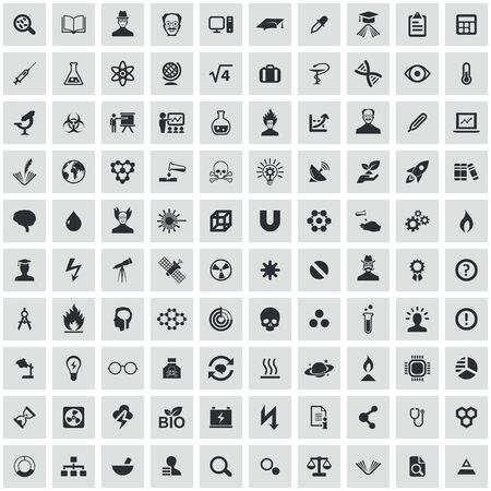 science 100 icons universal set for web and UI Banque d'images - 130457601