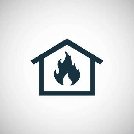 home fire insurance icon. trendy simple symbol concept template