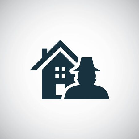 home thief insurance icon trendy simple symbol concept template