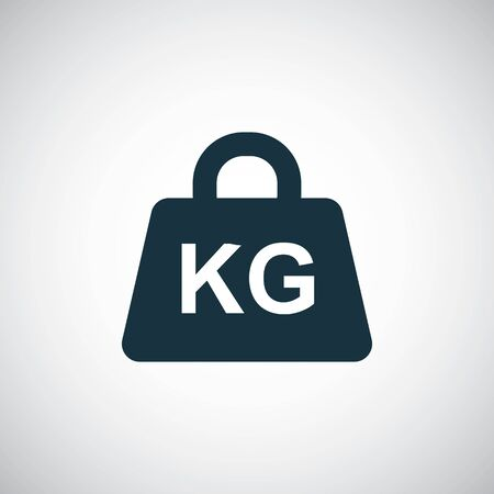 weight kg icon trendy simple symbol concept template