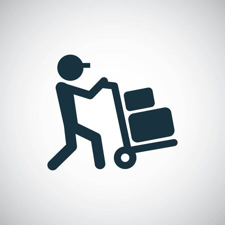 worker trolley icon trendy simple symbol concept template