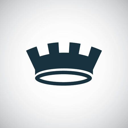 crown icon trendy simple symbol concept template