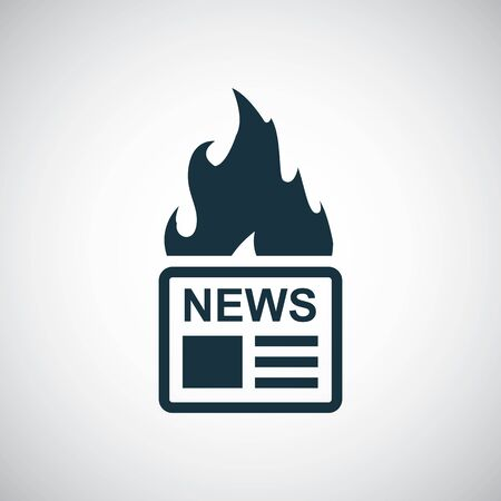 hot news icon, on white background.