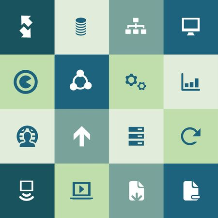 big data, database icons universal set for web and UI
