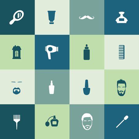 barbershop icons universal set for web and UI Stok Fotoğraf - 130458045
