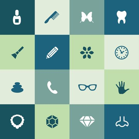 beauty, glamour icons universal set for web and UI