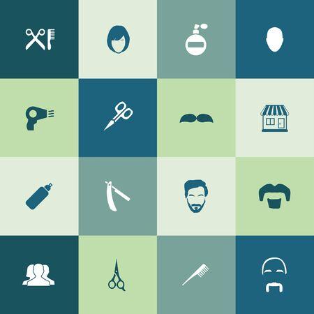 barbershop icons universal set for web and UI Standard-Bild - 130458064