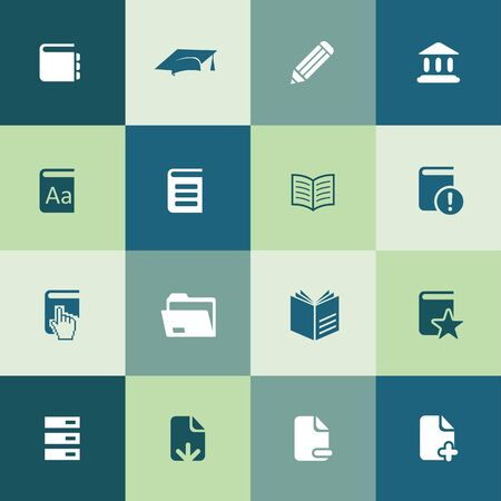 books icons universal set for web and UI