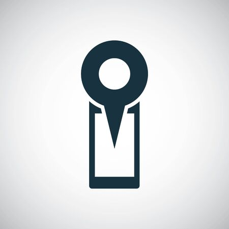 smartphone map pin icon. for web and UI