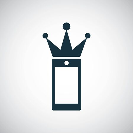 smartphone crown icon for web and UI on white background
