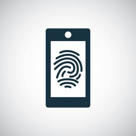 smartphone fingerprint icon for web and UI 일러스트