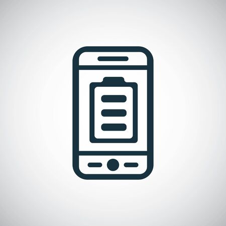 smartphone battery icon for web and UI