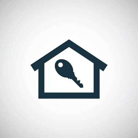 home key icon for web and UI on white background