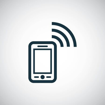 smartphone wifi icon. for web and UI on white background Illusztráció