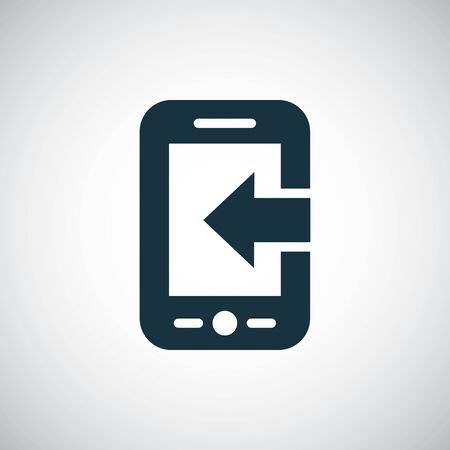 smartphone arrow icon for web and UI on white background