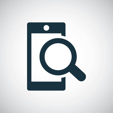 smartphone search icon for web and UI on white background 向量圖像