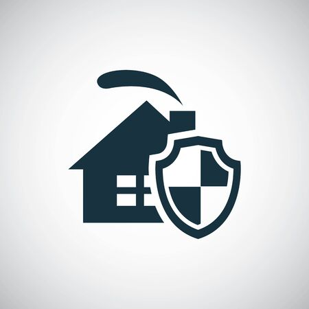 home security shield icon for web and UI on white background