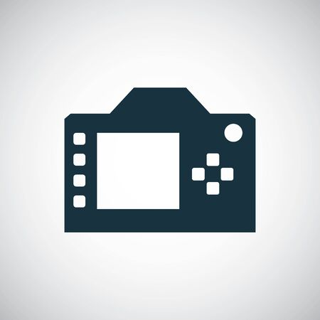 dslr icon for web and UI on white background Illustration