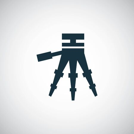tripod icon for web and UI on white background