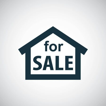 house for sale icon for web and UI on white background
