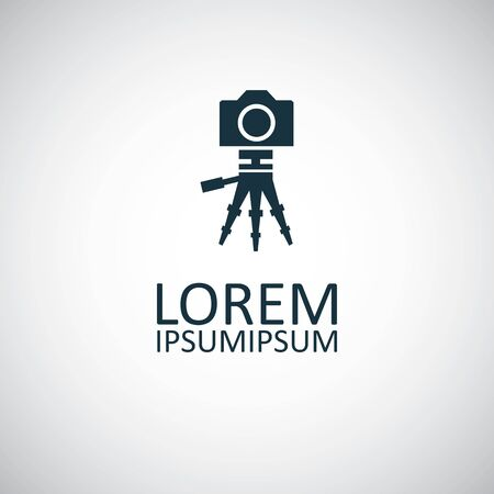 camera tripod icon. for web and UI on white background