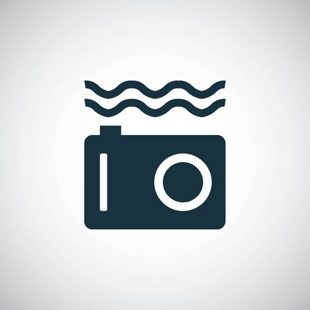 underwater camera icon for web and UI on white background