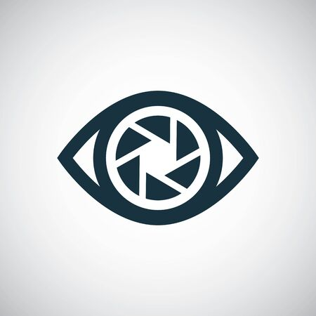 eye shutter icon for web and UI on white background