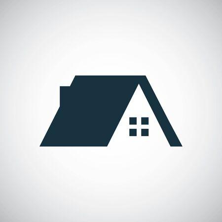 icône de toit de maison pour le web et l'interface utilisateur sur fond blanc