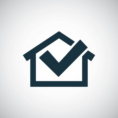 home ok icon for web and UI on white background