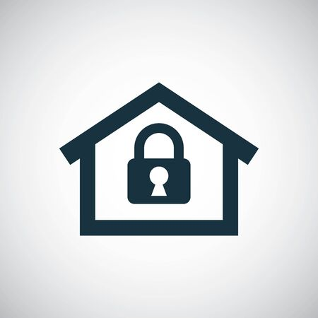 home lock icon for web and UI on white background