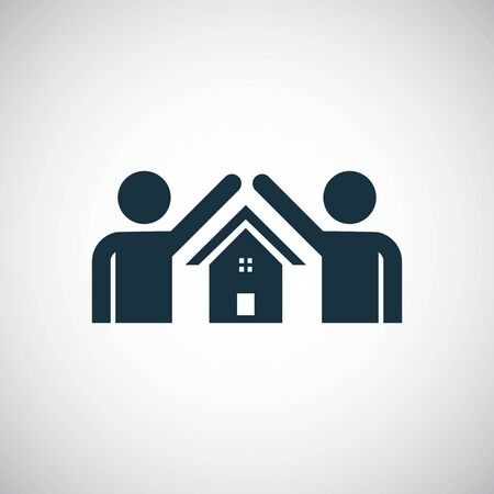 home person safe icon for web and UI on white background