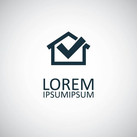 home ok icon. for web and UI on white background Çizim