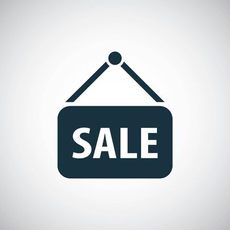 sale sign icon for web and UI on white background Иллюстрация